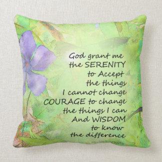 Serenity Prayer Vinca Glow Throw Pillow