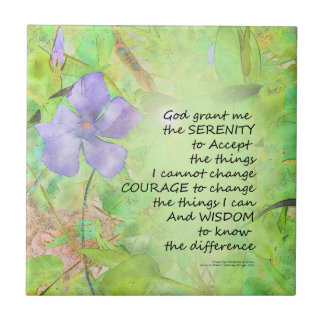 Serenity Prayer Vinca Glow Tile