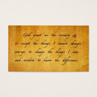 Serenity prayer vintage sharing Card