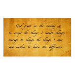 Serenity prayer vintage sharing Card Business Card Templates