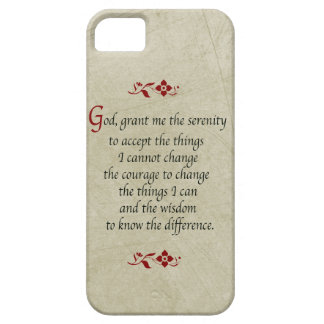 Serenity Prayer-Vintage Style+Burgundy Accents iPhone 5 Case