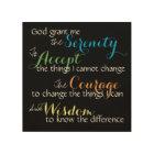 Serenity Prayer Wall Art