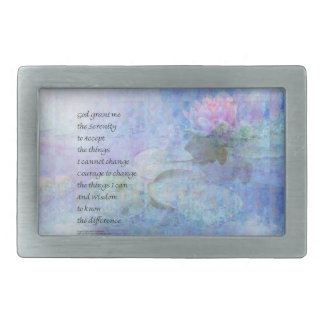Serenity Prayer Water Lily Wonders Rectangular Belt Buckle