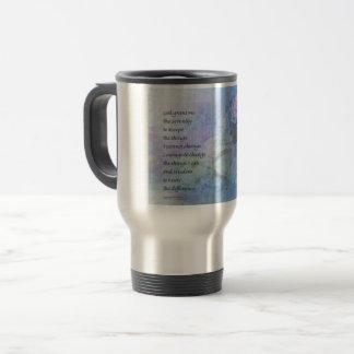 Serenity Prayer Water Lily Wonders Travel Mug