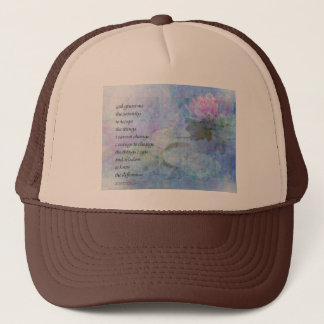 Serenity Prayer Water Lily Wonders Trucker Hat