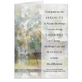 Serenity Prayer Watercolor Barn Card