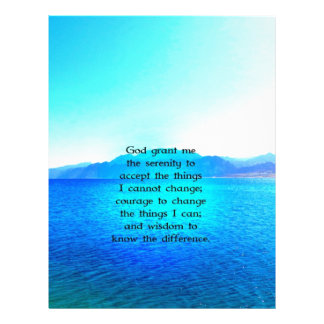 Serenity Prayer With Blue Ocean and Amazing Sky Letterhead Design
