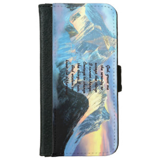 Serenity Prayer With Panoramic View Mount Everest iPhone 6 Wallet Case