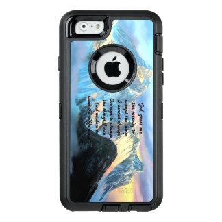 Serenity Prayer With Panoramic View Mount Everest OtterBox Defender iPhone Case