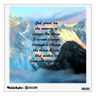 Serenity Prayer With Panoramic View Mount Everest Wall Sticker