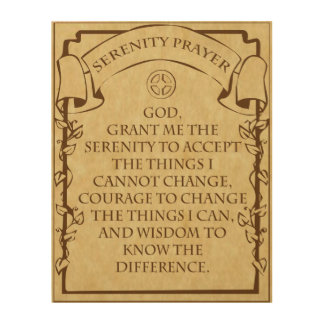 SERENITY PRAYER WOOD PRINTS