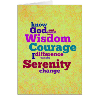 Serenity Prayer wordle card