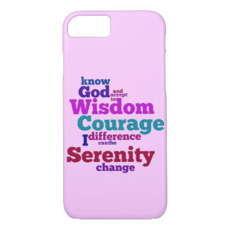 Serenity Prayer wordle iPhone 7 Case