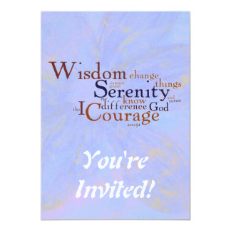 Serenity Prayer Wordle on abstract Card