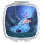 Serenity Sleeping Fairy & Kitten Compact Mirror