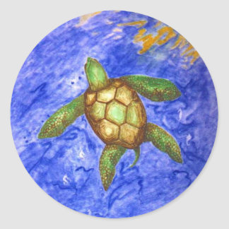 Serenity Turtle Classic Round Sticker