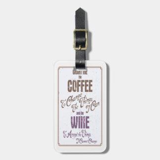 Serenity Wine III Luggage Tag