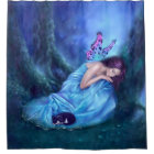 Serenity Woodland Butterfly Fairy Shower Curtain