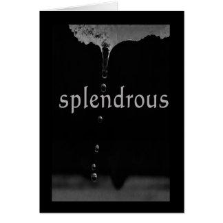 Serenity Word Drops: Splendrous Card
