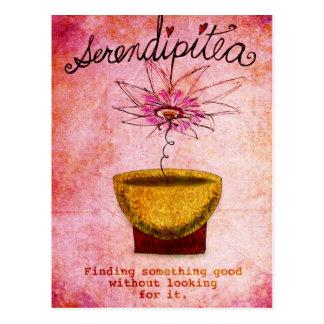 SerentipiTEA February 19 What my Tea says to me Postcard