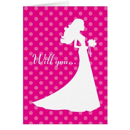 Serez-vous ma carte de demoiselle d'honneur ?
