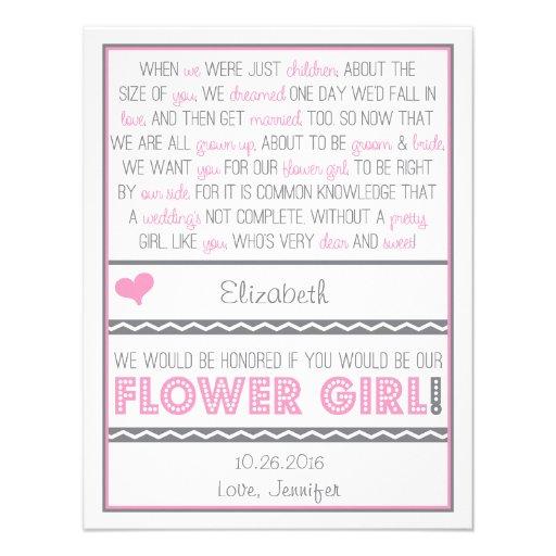 Serez-vous ma demoiselle de honneur ? Carte rose/g Invitation Personnalisable