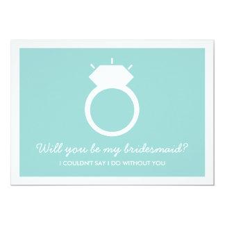 Serez-vous ma demoiselle d'honneur ? Carte bleue Carton D'invitation 12,7 Cm X 17,78 Cm