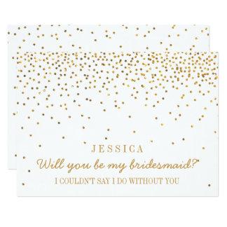 Serez-vous ma demoiselle d'honneur ? Confettis Carton D'invitation 12,7 Cm X 17,78 Cm