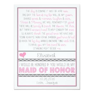 Serez-vous ma domestique d'honneur ? Carte Faire-part Personnalisables