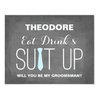 Serez-vous mon Groomsman ? garçons d'honneur de | Carton D'invitation 10,79 Cm X 13,97 Cm