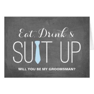 Serez-vous mon Groomsman ? | Groomsman Carte De Correspondance