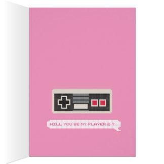 Serez-vous mon joueur 2 ? - Saint-Valentin de Carte De Vœux