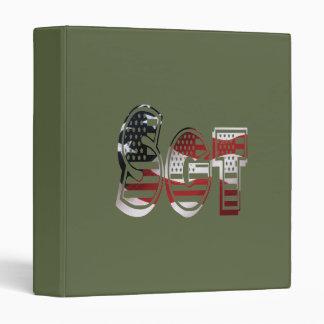 Sergeant American USA Military Green Sgt Vinyl Binders
