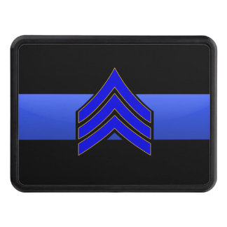 Sergeant Rank- Thin Blue Line Hitch Cover