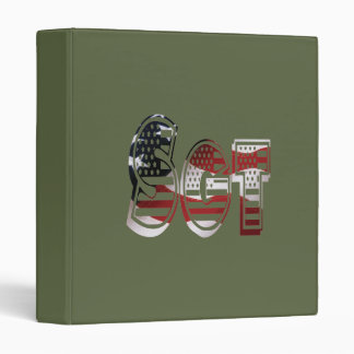 Sergeant USA Military Army Green American SGT Vinyl Binders