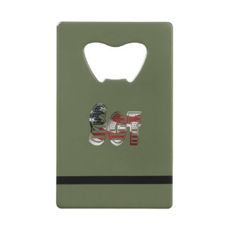 Sergeant USA Military Army Green American SGT Wallet Bottle Opener