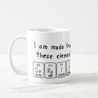 Sergio periodic table name mug