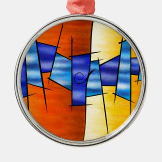 Seria Caloni V1 - the gift Silver-Colored Round Ornament