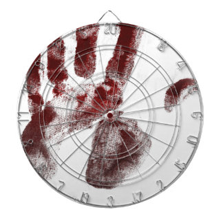 Serial killer blood handprint dartboards