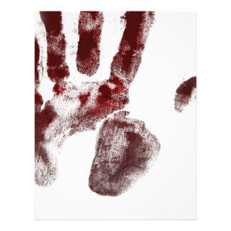 Serial killer blood handprint letterhead