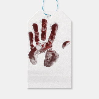 Serial killer blood handprint pack of gift tags