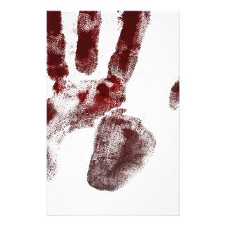 Serial killer blood handprint stationery