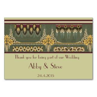 Série d'art déco : Épouser stationnaire, carte de