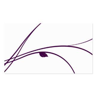 Série florale - 02 - violette carte de visite standard