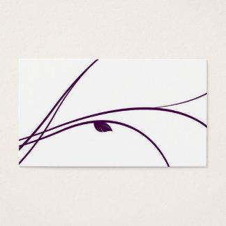 Série florale - 02 - violette cartes de visite