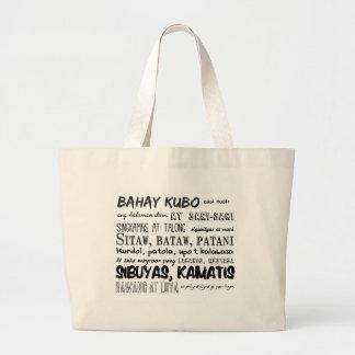 Série philippine de comptine sac en toile jumbo