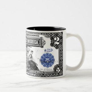 Series of 1899 2 Dollars Silver Certificate Mug