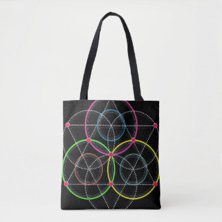 Series of Geometric Circles and Lines in Color Tote Bag