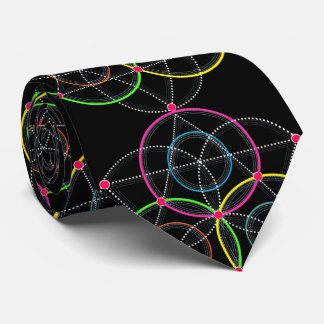 Series of Geometric Circles and Lines in Colour Tie