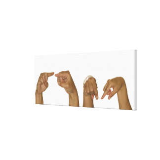 Series of hands making Z sign Stretched Canvas Prints